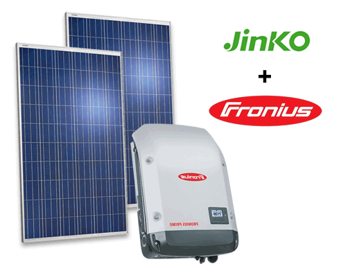 Commercial solar panel and inverter